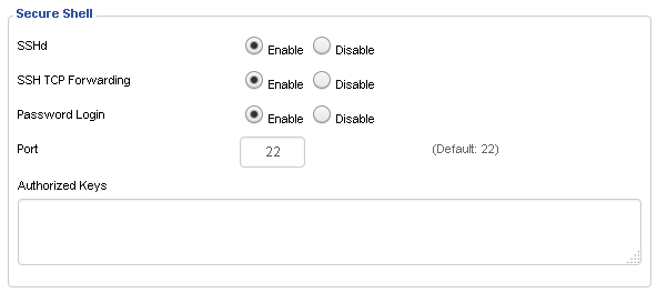 DD-WRT: SSH port forwarding i panel aministracyjny